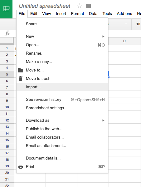 how to import as excel using google sheets copper knowledge base