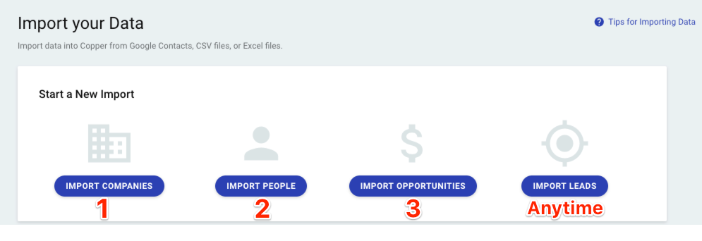 How to import data from Excel or CSV – Copper Help Center